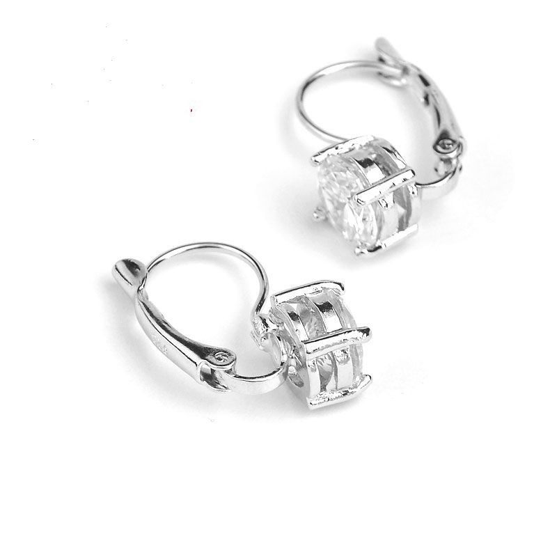 Sterling silver 925  jewelry with shining   micro clear crystal