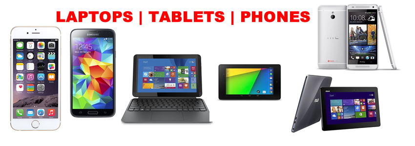Buy quality laptops, tablets and phones